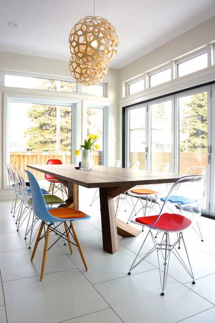 Attirant Transparent Eames Eiffel Chair With Cushions   Nee From Edmonton  Contemporary Dining Room