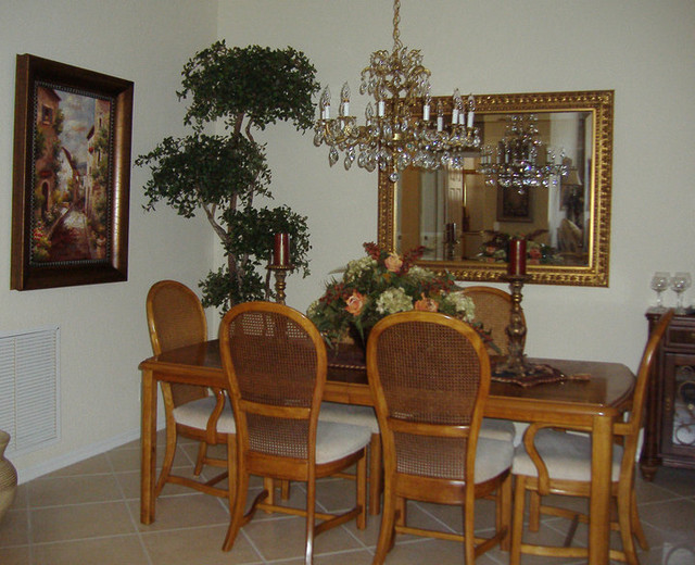 Trees traditional-dining-room