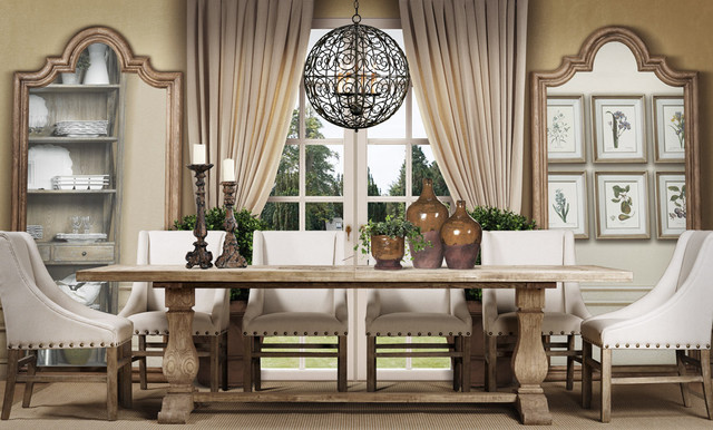 Trestle Table Dining Room Transitional