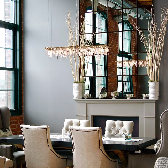 Transitional Dining Room Chandeliers: Tribeca Banqueting Chandelier In Dining Room