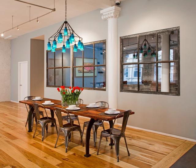 Tribeca Loft Industrial Dining Room