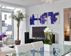 Tribeca Penthouse contemporary dining room