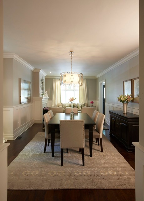 Trickett dining room traditional dining room other for Dining area wall ideas