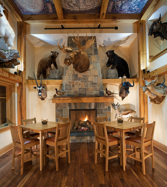 Trophy Room Rustic Dining Room New York By Heather