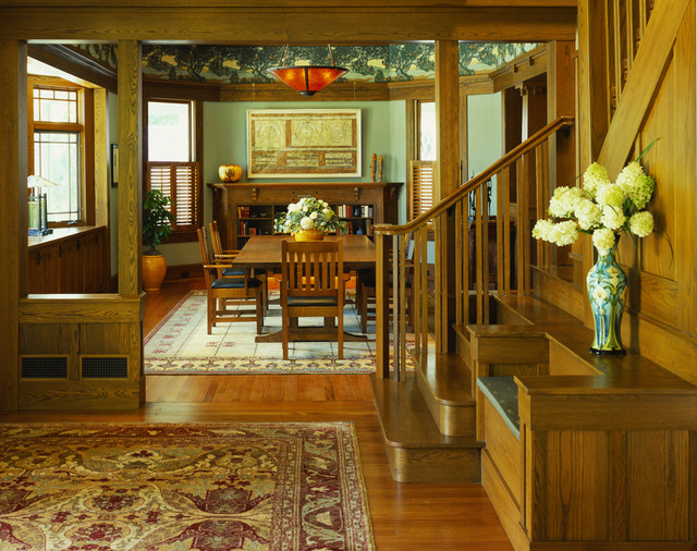 More about art nouveau style · craftsman dining room by gardner architects llc