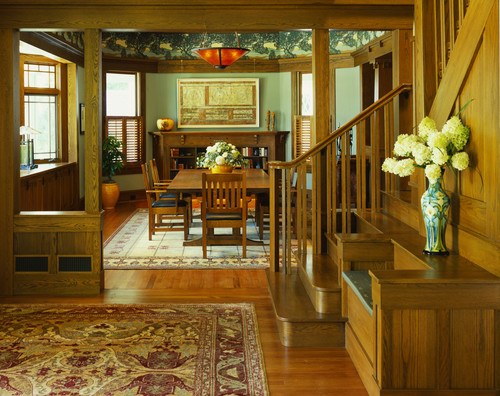 Craftsman style interior design house furniture for Craftsman style architecture