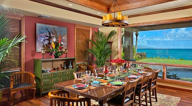 tropical dining room furniture | Tropical Dining Room