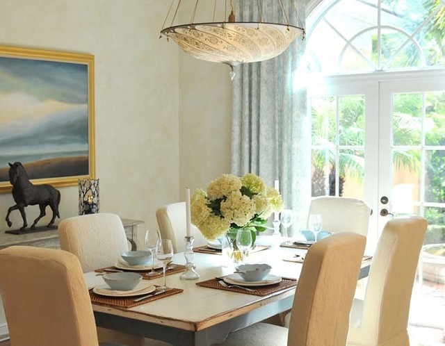 Lorrie Browne Interiors - Serving the Palm Beaches Area tropical-dining-room