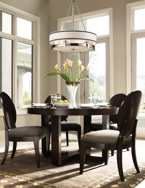 Fabric Shade Contemporary Dining Room New York By We Got Lites