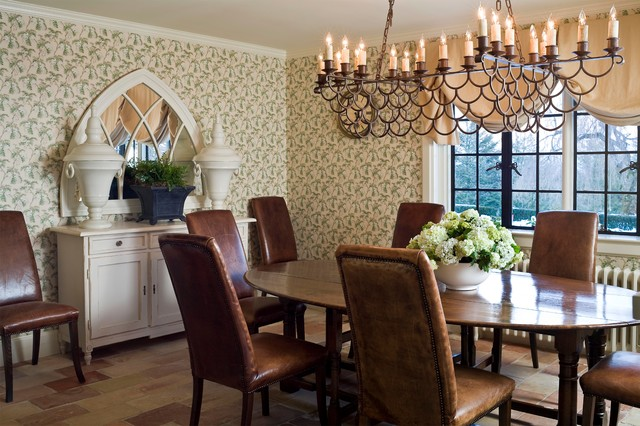 Tudor Mansion Traditional Dining Room Los Angeles