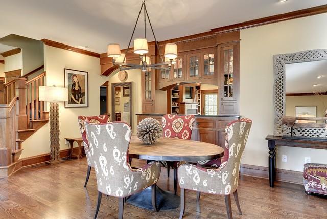 Tudor revival craftsman-dining-room