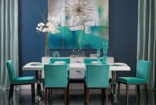 Turquoise Gem Alexa Dining Table Dining Room By High Fashion Home