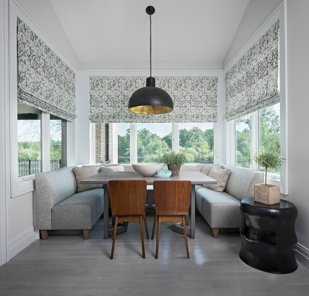 Inspiration for a transitional dining room remodel in Detroit