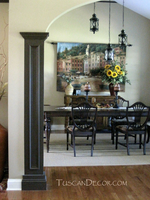 Tuscan dining room decorating ideas mediterranean for Tuscan dining room ideas