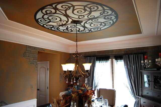 Tuscan dining room murals by tom taylor of wow effects in for Tuscan dining room wall art