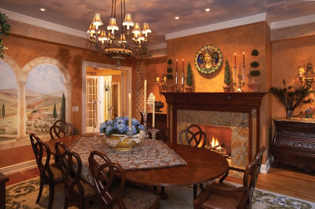 Tuscan Style Dining Room Mediterranean Dining Room Other
