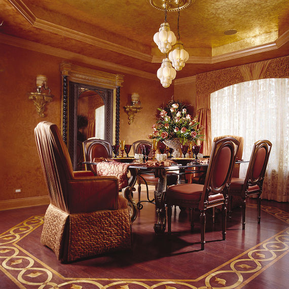 tuscan venetian mediterranean dining room chicago