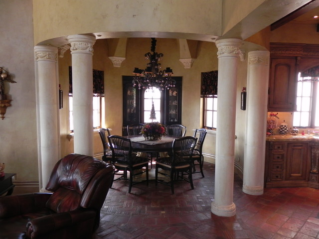 Tuscan villa arizona traditional dining room phoenix for Dining room quilter