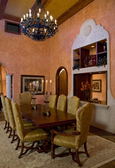 Tuscan villa mediterranean dining room miami by for Tuscan dining room