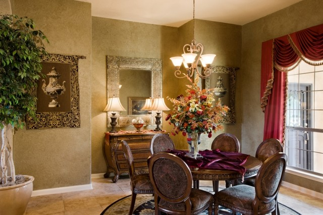 Tuscany Dining Room by Sitterle Homes - Mediterranean - Dining Room ...