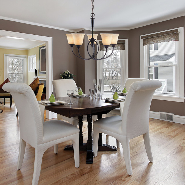 Twirl - Five Light Chandelier traditional-dining-room