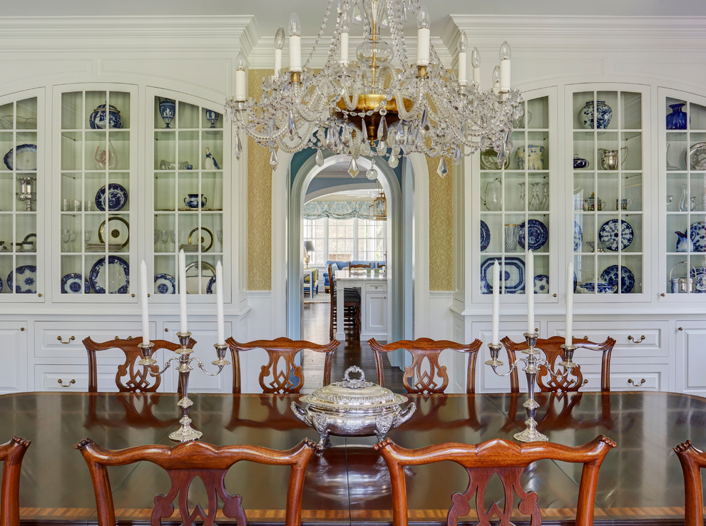 Two Matching Built In China Cabinets In Formal Dining Room Traditional Dining Room Milwaukee By Orren Pickell Building Group