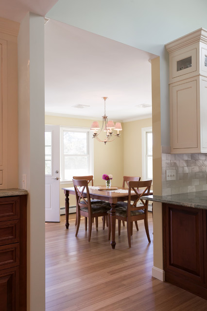 Two-Tone Traditional Kitchen traditional-dining-room