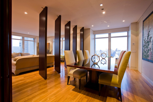 ultra luxury upper east apartment modern dining room