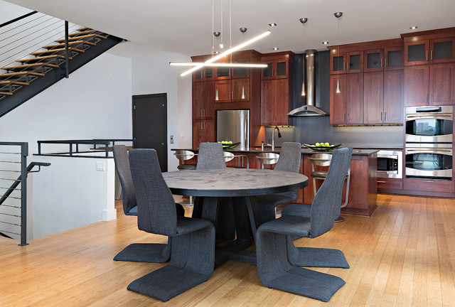 Ultra Modern Loft - Contemporary - Dining Room - Other ...