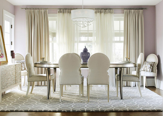 Understated glam dining room traditional dining room for Glam dining room ideas