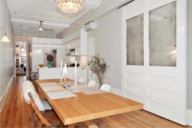 union square loft kitchen modern-dining-room