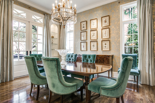 University park french colonial traditional dining for French colonial kitchen designs