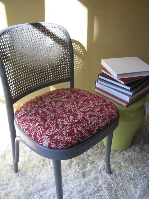 Upcycled Thonet Bentwood Cane Chair Eclectic Dining