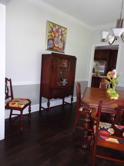 UPDATED COLORFUL DINING ROOM eclectic-dining-room