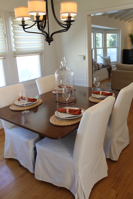 Updated Traditional Chandelier Contemporary Dining