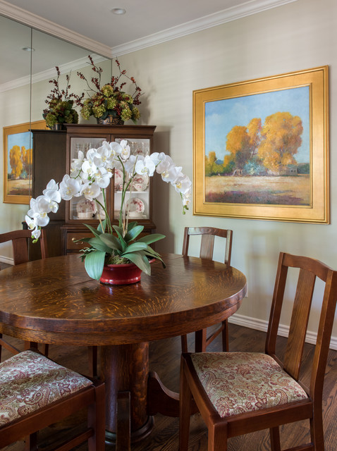 Updated traditional traditional dining room dallas for Updating a traditional dining room
