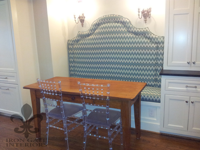 Upholstered banquette   eclectic   dining room   other   by iron ...