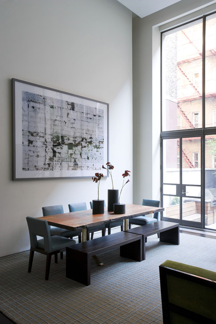 Upper East Side Carriage House contemporary-dining-room