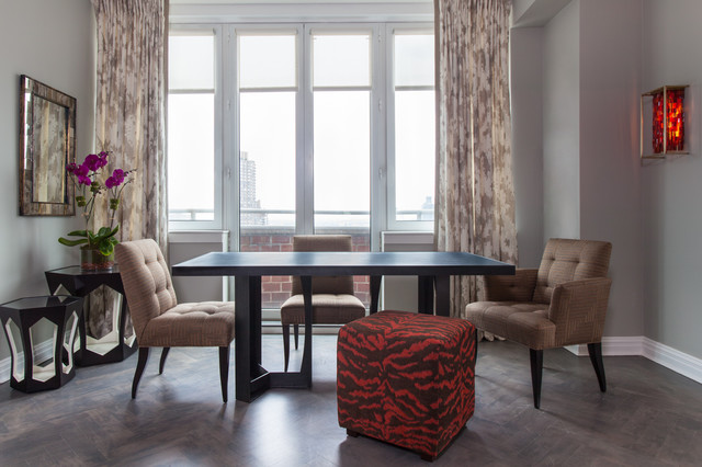 Upper East Side Highrise contemporary-dining-room