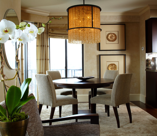 contemporary dining room by Robin Baron