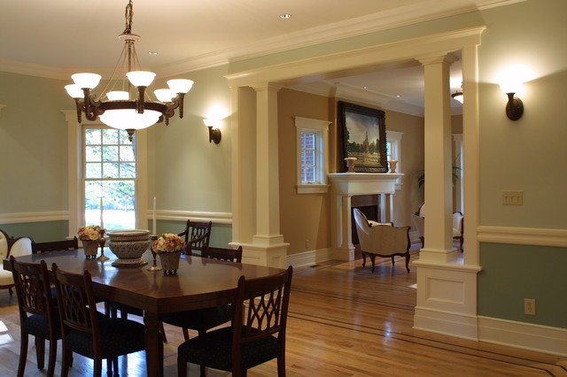 colonial dining rooms | Upper Montclair, NJ, New Home, Craftsman Colonial ...