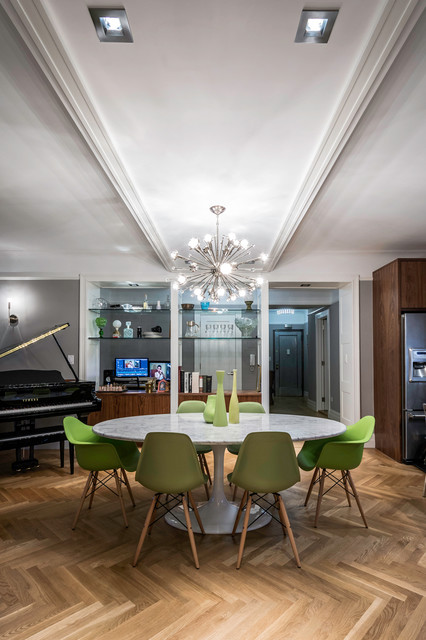 Upper West Side Apartment Remodel 395 Riverside Drive Contemporary Dini