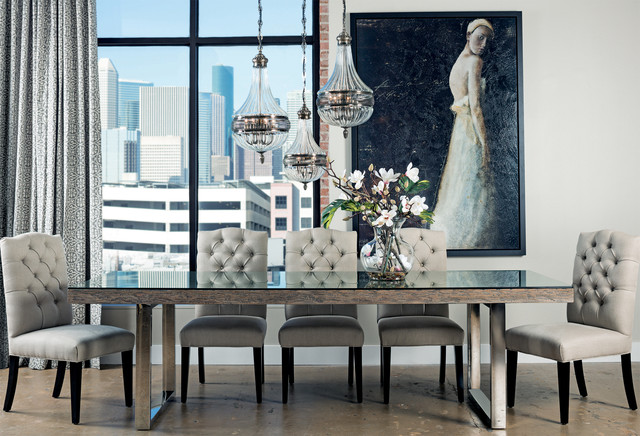 Uptown Henley Dining Tablecontemporary Room Houston