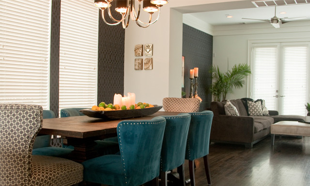Urban chic contemporary dining room houston by for Dining room design questions