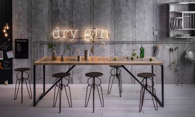 Urban industrial kitchen for Salle a manger urban