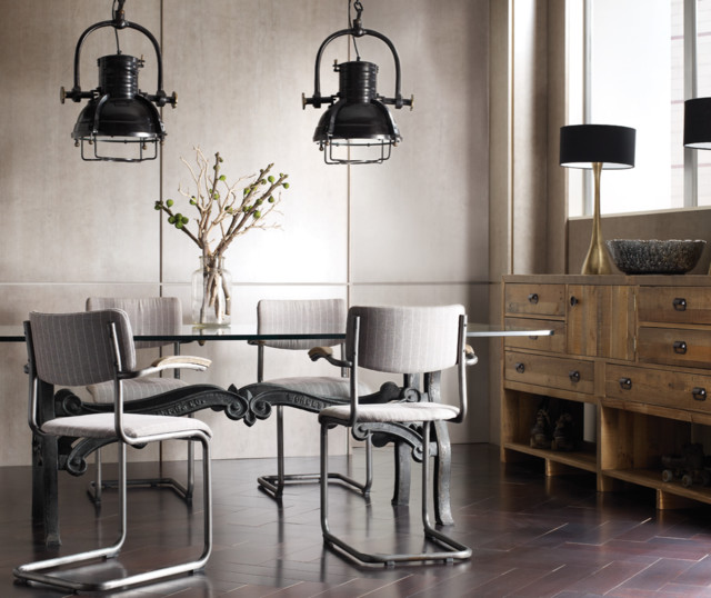 Urban Industrial Contemporary Dining Room