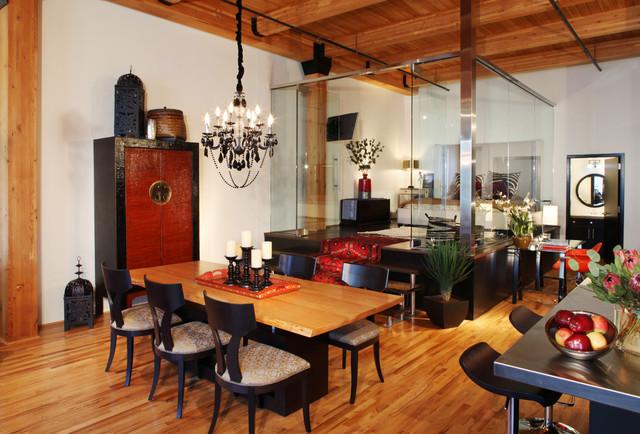 urban loft eclectic dining room - Table Atelier Loft