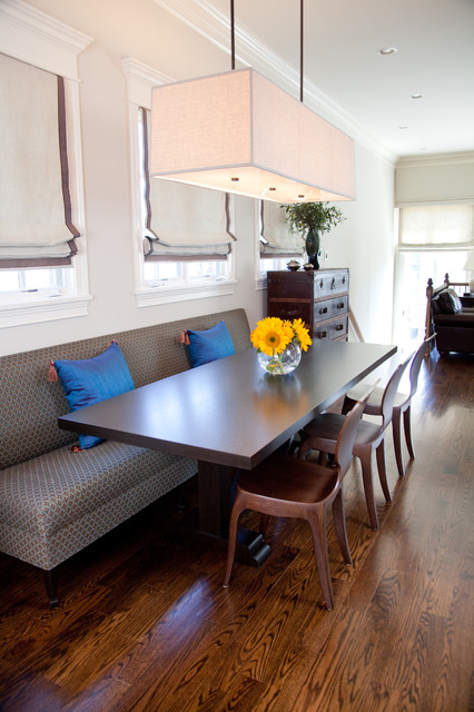 transitional dining room by Lisa Wolfe Design, Ltd