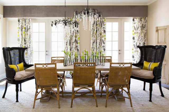 Urban Tropical Formal Dining Room - Country - Dining Room ...
