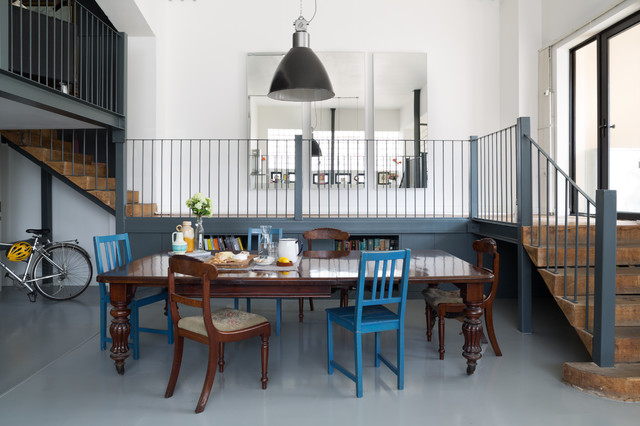 Urban Warehouse Flat Eclectic Dining Room